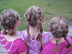 My girls love these 'dos. :o)  #hair