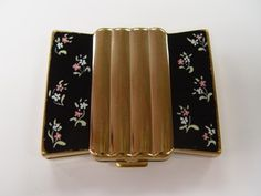 Vintage Volupte Goldtone Floral Women's Compact Accessories | eBay