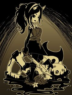 Classic Cartoon Characters, Fnaf Characters, Classic Cartoons, Bendy And The Ink Machine, Draw Your Oc, Alice Angel, Just Ink, Indie, Game Art