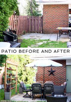 Our Patio Before and After - http://akadesign.ca/our-patio-before-and-after/