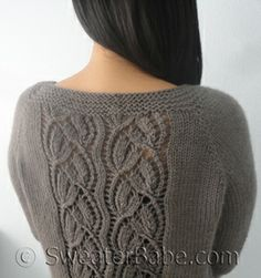 PDF Knitting Pattern for Simply SweaterBabe Top-Down Cardigan from SweaterBabe.com