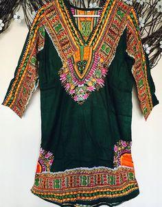 Women 100 Cotton Kurti Kurta Tunic Dress Top Green Printed Full Sleeve Sz XL | eBay