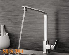 304 robinet de cuisine en acier inoxydable brossé eau chaude et froide mélangeur de cuisine nickel satiné 333 dans de sur Aliexpress.com