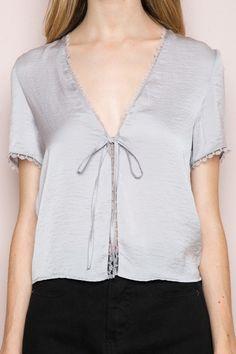 Nadina Silky Top - Silk & Velvet Pieces - Clothing