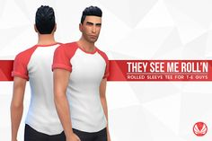 My Sims 4 Blog: They See Me Roll'n Tees in 20 Colors for Teen - El...
