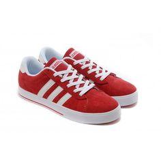 hombres/mujer Adidas NEO SE Daily Vulc Suede Corriendo Zapatos University rojo/Blanco Trainers F39078