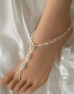 Barefoot sandals and other beach brides' jewelry and shoes