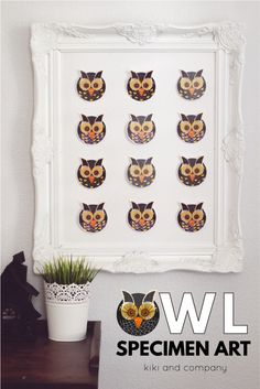 Owl Specimen Art from kiki and company. You can also use this freebie as a garland!