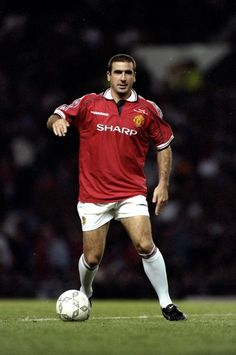Manchester United is stronger than anybo by Eric Cantona @ Like Success Man Utd Squad, Man Utd Fc, Good Soccer Players, Best Football Players, Fifa, Manchester United Top, Eric Cantona, Man Utd News, Association Football