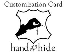 Customization Card for Wristlet, Extra Card Slot, Expedited Service, Etc.