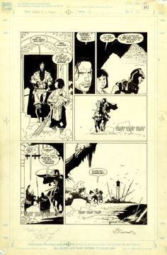 M. Mignola - Fafhrd and the Grey Mouser #3 Comic Art