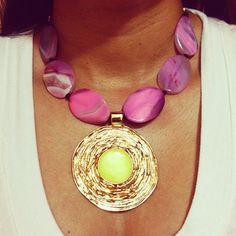Collar de ágatas by Luz Marina Valero