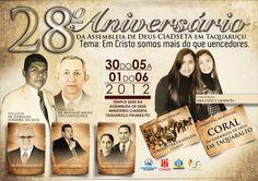 Aniversário do Templo da A.D. CIADSETA em Taquaruçu.
