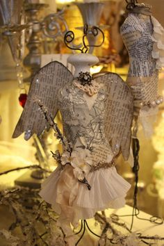 Christmas angel dress form ~ so cute ~ from Karla's Cottage
