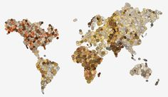 Map created with coins from each country