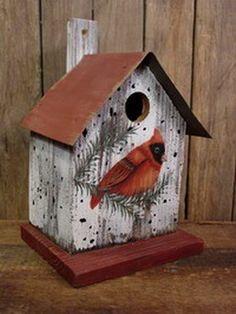 Metal Roof Cardinal Birdhouse                                                                                                                                                                                 More