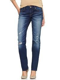 1969 destructed real straight jeans