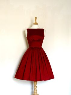 Royal Red Silk Dupion Prom Dress - Made by Dig For Victory - FREE SHIPPING worldwide