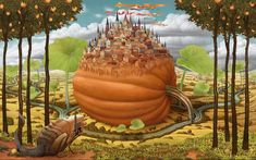 Dream World Revealed on Canvas - 21 Mind Blowing Paintings by Jacek Yerka. Read full article: http://webneel.com/webneel/work/dream-world-painting-jacek-yerka-3 | more http://webneel.com/paintings | Follow us www.pinterest.com/webneel