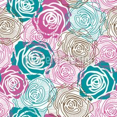 Dreams Of Roses designed by Viktoryia Yakubouskaya, vector download available on patterndesigns.com