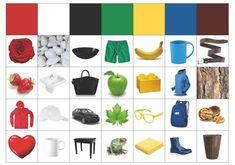 Easy DIY Learning games for Preschool Color Worksheets For Preschool, Fall Preschool Activities, Preschool Colors, Creative Activities For Kids, Teaching Colors, Montessori Activities, Color Activities, Infant Activities, Learning Activities