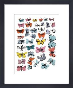 Butterflies, 1955 (many/varied colors) Art Print by Andy Warhol at King & McGaw