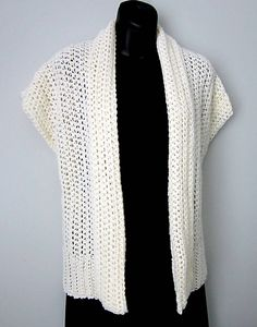 Free shrug pattern - made one...working on another...love this pattern!!