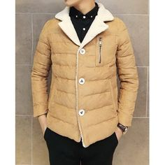 Clothes Type: Down & Parkas  Material: Cotton, Wool, Polyester  Collar: Turn-down Collar  Clothing Length: Short  Style: Fashion  Weight: 1.3KG  Sleeve Length: Long Sleeves  Season: Winter  Package Contents: 1 x Coat  Size	Bust	Length	Shoulder Width	Sleeve Length M	108	63	43	61 L	112	...