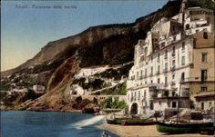 Amalfi Campania, Panorama della marina, Blick auf Hafen