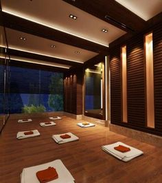 Your Yoga center in The Lalit Jaipur, Rajastan, India. Yoga Studio inspiration but with garage doors to open in the summer.