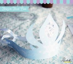 Frozen Crown for Frozen Birthday Party. Instant Download. Pretty Frozen Queen Elsa's Crown for the birthday girl.