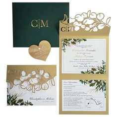 Fuchsia Wedding Stationery in Durban provide traditional, modern, lasercut or handmade couture wedding invitations. Our Invitation Cards are design-led. Couture Wedding Invitations, Wedding Invitation Design, Wedding Stationery, Stationery Design, Hunter Green, Save The Date, Greenery, Our Wedding, Place Card Holders