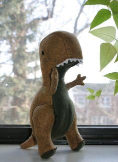 Stuffed Dinosaur T-Rex: Premium Felt Hand-Stitched by RawrStitches