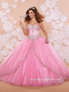 Mary's Pink Quinceanera Dresses 2015 New Sweetheart Beaded Embroidery Sparkling Tulle Ball Gown Prom Gowns with Bolero And Lace Up Back from Nicedressonline,$275.03 | DHgate.com