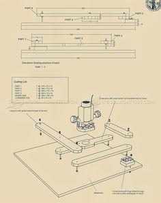 Router Pantograph Plans - Router Tips, Jigs and Fixtures Woodworking Router Bits, Router Tool, Wood Router, Woodworking Skills, Easy Woodworking Projects, Woodworking Shop, Planer, Woodworking Plans, Router Accessories