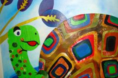 turtle mixed media painting - Google Search