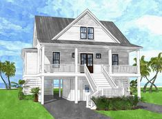 The Harbor River Cottage is offered by SDC House Plans. View more Coastal House Plans on the SDC website. Small Cottage House Plans, Coastal House Plans, Small Cottage Homes, Cottage Plan, Cottage Ideas, Cottage Style Houses, Beach Cottage Style, Beach Cottage Decor, Coastal Cottage