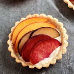 These stone fruit tarts are easy to make and incredibly flavorful, with a rainbow of fresh stone fruit on top!