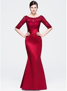A-Line/Princess Scoop Neck Floor-Length Chiffon Evening Dress With Appliques Lace (017064193) - JJsHouse