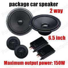 Free shipping 6.5 inch car package speaker car stereo audio speaker a pcs 2 way 2x150W for all cars