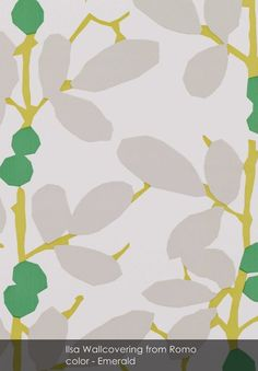Ilsa Wallcovering wallpaper from Romo in Emerald