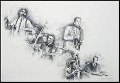 "Davide Ricchetti ""Jazz n 13"" china on paper, cm 50x70, 2012"
