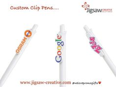 """""""Get your brand in your customers hand!"""" with these #branded_clip_pens   #welovepromogifts❤️"""