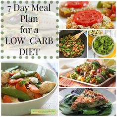 7 Day Meal Plan for a Low Carb Diet -- Need a few weeknight dinner ideas? This plans them for you!