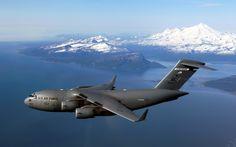 C-17 Globemaster over Alaska