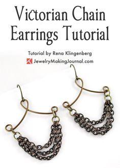 Victorian Chain Earrings Tutorial by Rena Klingenberg