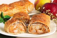 Яблочный штрудель из лаваша - рецепт с фото