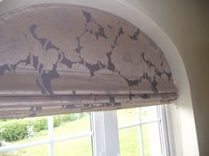 Roman Blind for an arched window