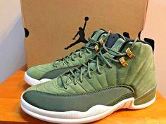 115cbe6b2b2 Nike Air Jordan 12 Retro Chris Paul Class Of 2003 Men Size 10.5 Olive  130690-301