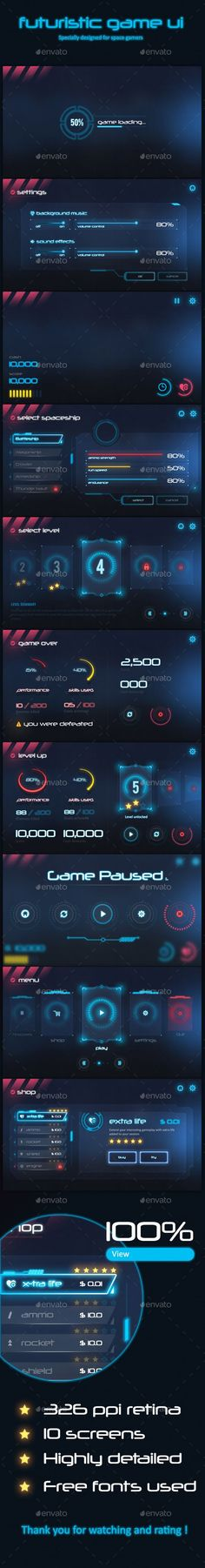Futuristic Game Ui Download here: https://graphicriver.net/item/futuristic-game-ui/19577793?ref=KlitVogli